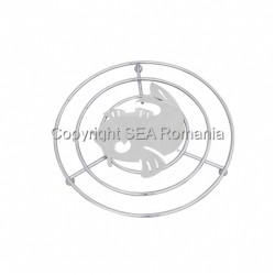 SUPORT VASE METALIC 205X17MMH PESTE CROMAT 570.02.06