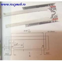 GLISIERA SYNCRO L400MM CU AMORTIZARE EXT. PART 433.06.542
