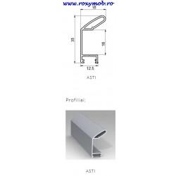 SLIDER PROFIL MANER MIDI ASTI 18 5.3 ML XGX-1167.1 ALU