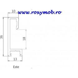 SLIDER PROFIL MANER MODENA ESTE 3 ML RP-33780.6 NEGRU
