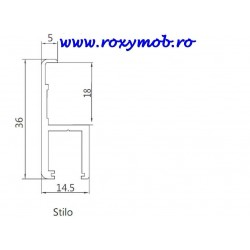 SLIDER PROFIL MANER MODENA STILO 3 ML RP-34529.6 NEGRU
