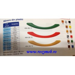 484.08.19 MANER ARCADA PLASTIC 96 MM NEGRU