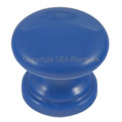 BUTON PLASTIC ROTUND D32XH27MM ALBASTRU 484.09.14