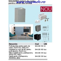 SQUADRO GLISOR REGLABIL NEGRU 944.06.120