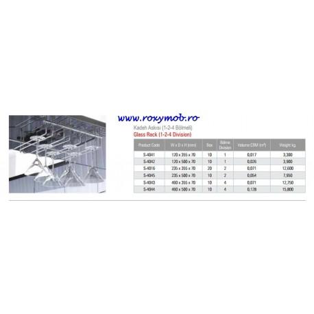 SUPORT PAHARE STARAX 2 BRATE 235X500X70MM S-4045