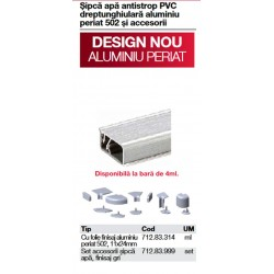INALTATOR PVC INGUST 11X24MM FOLIE FINISAJ ALU 712.83.314