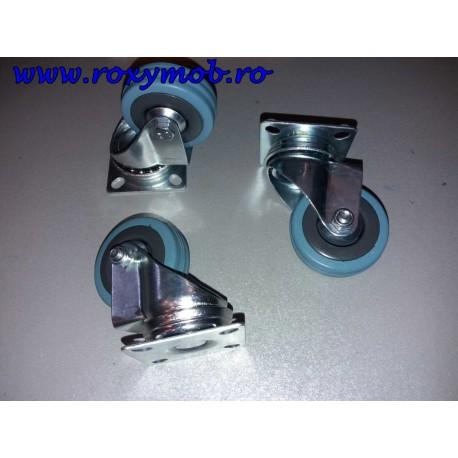 ROTILA NYLON GRI DIM 50 H68 MM CU FLANSA P23120RO