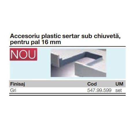 SERTAR SUB CHIUVETA MIJLOC PLASTIC PAL 16MM GRI 547.99.599