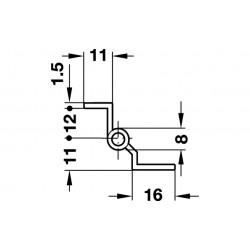 BALAMA ST.NI.PL.CR.D7,5 R.50MM DREAPTA CROMAT 331.08.726