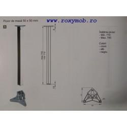PICIOR MASA PATRAT 50X50 H710 MM NEGRU