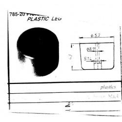 PICIOR PLASTIC 785-20 NEGRU 53XH43MM 446.02.19