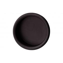 MANER SCOICA ROTUND PLASTIC NEGRU 55X45MM 158.20.630