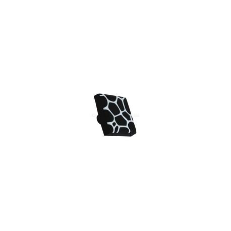 BUTON PLASTIC SOFT NEGRU ALB DECOR 40X40X25MM 489.23.19