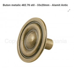 BUTON METALIC STIL 33X20MM ALAMIT ANTIC 482.76.29