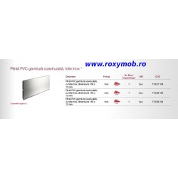 PLINTA H150 MM PLASTIC FOLIE ALU INOX 509 4M, 713.59.104