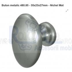 480.85.24 BUTON METALIC NICHEL MAT 35X23X27 MM