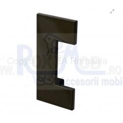 MANER PLASTIC 100X48MM 64MM NEGRU 484.64.19