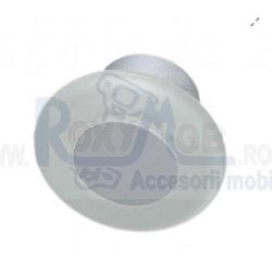BUTON PLASTIC TRANSPARENT ALB D35XH20MM 484.04.111