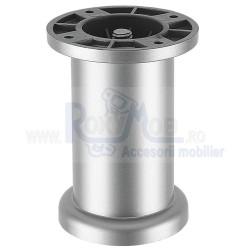 PICIOR CILINDRIC REGLABIL ROTUNDA SATIN ARGINTAT D50 H80 MM