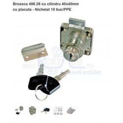 BROASCA 498.26.05 BR YALA 40X40, CU PLACUTA