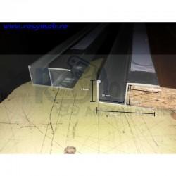 PROFIL DUBLU U 3 M ALUMINIU ECO