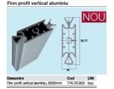 FINN COMPARTIMENTARE PROFIL VERTICAL ALUMINIU 3M 774.70.903