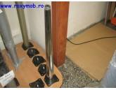 PICIOR MASA CONIC K104, H 710 MM, DIM 60 CROM