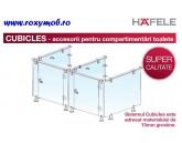 CUBICLES CONECTOR SUSTINERE BARA PERETE INOX 13MM 988.98.000