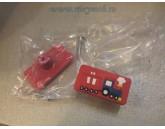 BUTON SOFT PLASTIC - TRENULET - ROSU 55X25X25MM 489.21.15