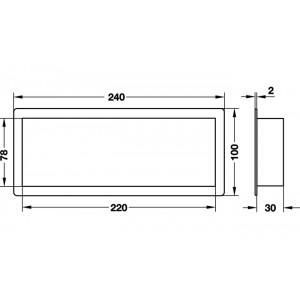 GRILA VENTILATIE PLASTIC MARO 240X100 MM 571.74.106