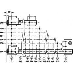POCKET DOOR GLISIERA 536 MM 408.25.355