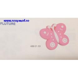 BUTON SOFT PLASTIC - FLUTURE - ROZ 43X28X25MM 489.01.53