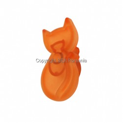 BUTON PLASTIC TRANSPARENT PISICUTA ORANGE 487.07.48
