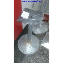 PICIOR CENTRAL CH ROTUND DIAM 60 H710 MM BAZA 450 NEGRU