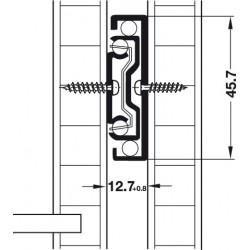 GLISIERA HAFELE BILE AMORTIZARE 45.7 L600 MM 41KG 432.16.960