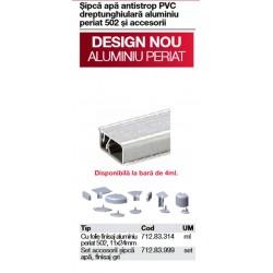 INALTATOR PVC INGUST 11X24MM FOLIE FINISAJ ALU 712.83.114