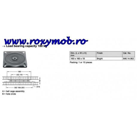 SUPORT ROTATIV TV HAFELE 50 KG 360 GRADE 160 MM 646.14.062