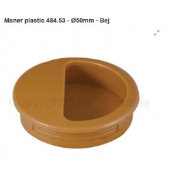 MANER SCOICA ROTUND PLASTIC DIAMETRU 50 BEJ 484.53.12
