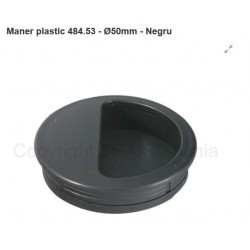MANER SCOICA ROTUND PLASTIC DIAMETRU 50 NEGRU 484.53.19