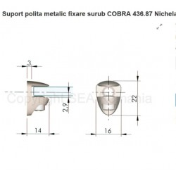 SUPORT POLITA METALIC COBRA 5MM NICHEL 436.87.05