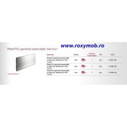 PLINTA H100 MM PLASTIC FOLIE ALU INOX 509 4M, 713.57.104