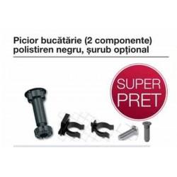 PICIOR PLASTIC BUCATARIE 2 BUC H 100 MM NEGRU 637.83.332