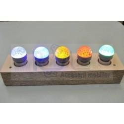 BEC LED E14 HONEYCOMB AC 230V ROSU