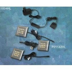 KIT 3 LED PATRAT P21142HL MAT CROM