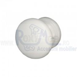 BUTON PLASTIC ROTUND D32XH27MM ALB 484.09.11