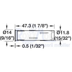 LED INTRERUPATOR SENZOR FARA CABLU D12MM 833.89.127
