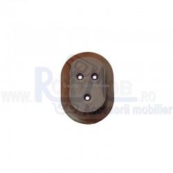 SUPORT BARA HAINE ROTUND PLASTIC D25 MARO 436.30.13