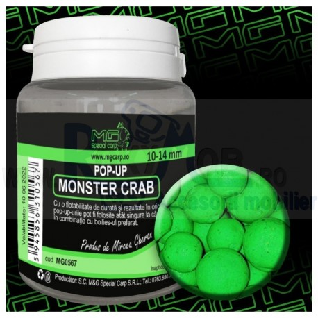POP UP MONSTER CRAB 10-14MM MG0567