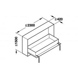 PAT RABATABIL MAXIM CARCASA 2300X1600 LATIME 271.95.204