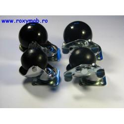 ROTILA CU BILA D 50 MM, FLANSA 40X40 MM SI FRANA 438.50.19